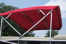 4-Bow 10' Square Tube Pontoon Top w/Standard Front & Rear Braces