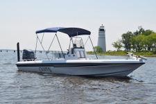 3-Bow Round Tube Bimini Top - Champion Boat