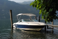 3-Bow Round Tube Bimini Top - 1995 Sea Ray 180 CB Signature