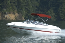 3-Bow Round Tube Bimini Top - 36in. Height - Mariah Boat