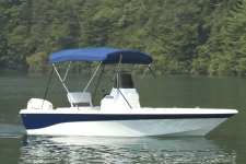 3-Bow Round Tube Bimini Top - 54in. Height - Nautic Star Boat
