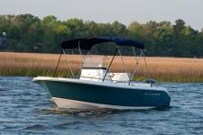 3-Bow Round Tube Bimini Top w/Optional Rear Brace Kit - Sea Hunt Boat