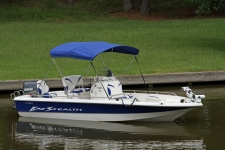 3 Bow Stainless Steel Round Bow Bimini Top w/Rear Brace Kit - 2003 VIP Bay Stealth 2030