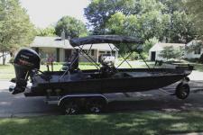 4-Bow Round Tube Camo Bimini Top w/ Brace Kit - Jon Style Bass Boat - Xpress Boat