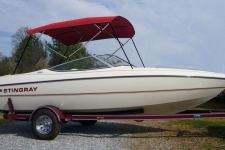 4-Bow Round Tube Bimini Top - 36in. Height - Stingray Boat