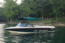 3-Bow Round Tube Super Sport Bimini Top w/ Stainless Steel Fittings - A3581UB(SS) - Hemlock Tweed  - 1997 Correct Craft Ski Nautique