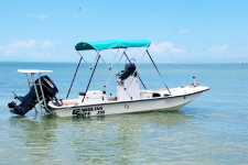 3-Bow Round Tube Bimini Top, Carolina Skiff J16 CC