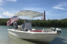 4-Bow Round Tube Bimini Top - 4A6087UB - Sunbrella - Natural  - 2008 Pathfinder TE 2200
