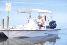 3-Bow Round Tube Bimini Top - Kenner Boat