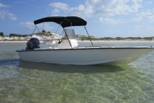 3-Bow Round Tube Bimini Top - Cape Craft Boat
