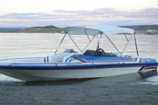3-Bow Round Tube Bimini Top w/Optional Stainless Steel Fittings - 46in. Height - Ultra Boat