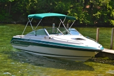 3-Bow Round Tube Bimini Top - Sea Ray Seville Boat