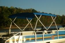 4-Bow Square Tube Bimini Top w/Front & Rear Brace Kits - Suntracker 24 Pontoon Boat