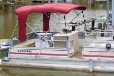 4-Bow Square Tube Buggy Style Pontoon Top
