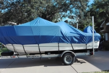2004 Trophy 1801 WA, Styled to Fit Cover, Sun-DURA, Cobalt Blue - Shown w/ Optional Support Poles