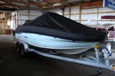 2017 Stingray 206 CC W/ Bimini Top Upright - Custom Fit, Sun-DURA, Black