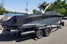 Cobalt - Custom Fit Boat Cover w/ Tower Cut-Outs - 2018 Cobalt CS 23  w/ Factory Tower w/ Swim Platform