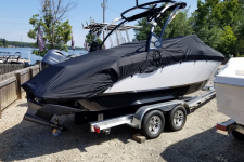 Cobalt - Custom Fit Boat Cover w/ Tower Cut-Outs - 2018 Cobalt R3 Surf w/ Factory Tower w/ Swim Platform