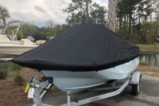 Boston Whaler - Custom Fit Boat Cover - 2019 Boston Whaler 150 Montauk w/ Aft Rails