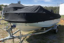 Boston Whaler - Custom Fit Boat Cover - 2019 Boston Whaler Montauk 150 w/ Bow Rail2019 Boston Whaler Montauk 150 w/ Bow Rail