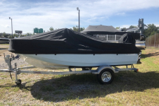 Boston Whaler - Custom Fit Boat Cover - 2019 Boston Whaler Montauk 150 w/ Bow Rail