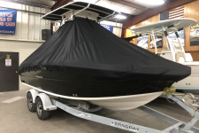 2019 Stingray 216 CC w/ T-Top - Custom Fit Storage Cover - Attaches Under the T-Top