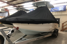 2019 Stingray 236 CC w/ T-Top - Custom Fit Storage Cover - Attaches Under the T-Top