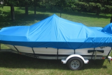 Triumph, Center Console Bay Style Fishing Boat w/Shallow Draft Hull, Styled to Fit, Poly-Guard, Caribbean Blue