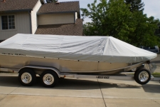 North River, Aluminum Fishing Boat w/High Windshield Mounted Forward, Styled to Fit, Poly-Guard, Haze Gray