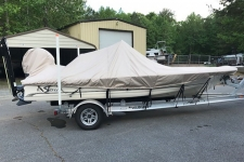 2014 Scout 191 Bayscout, Styled-to-Fit for V-Hull Center Console Shallow Draft Bay Style Fishing Boat, Poly-Guard, Beige
