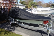 Center Console Bay Style Shallow Draft Fishing Boat w/ Poling Platform - Styled to Fit Boat Cover