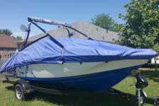 Custom Boat Cover - 13-15 Yamaha AR 192 - Sun-DURA - Cobalt Blue