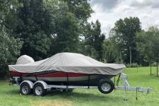 Crestliner - Custom Fit Boat Cover - 2016 Crestliner Super Hawk 1850 OB (Note:  Designed for 2017-2018 models  w/ factory trolling motor)