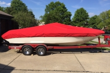 2008 Stingray 230 LX, Styled to Fit, V-Hull Runabout Style, Sun-DURA, Red
