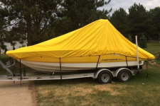 2008 Chaparral 236 SSX w/ Tower  - Over-the-Tower Specialty Storage Boat Cover - 83124S - Sun-DURA - Yellow