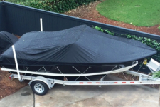 Sea Hunt Escape 188LE - Styled to Fit Cover - V-Hull Runabout O/B - Sun-DURA - Black - 77018S