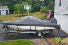 1990 Larson V-Hull Runabout O/B - Styled to Fit Cover - Sun-DURA - Storm Gray