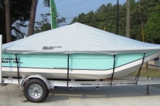 Carolilna Skiff 198 DLV, Custom Fit, Poly-Guard, Haze Gray