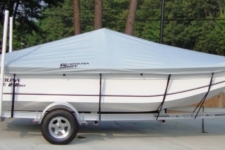 Carolina Skiff 218 DLV, Custom Fit, Poly-Guard, Haze Gray