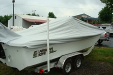 Carolina Skiff 238 DLV, Styled to Fit, Center Console Bay Style Fishing Boat w/Shallow Draft Hull, Poly-Guard, Haze Gray