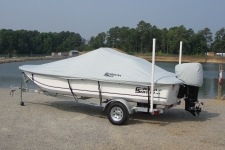 Carolina Skiff JVX 20, Custom Fit, Poly-Guard, Haze Gray