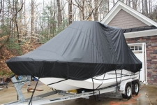 2012 Carolina Skiff 218 DLV w/T-Top, Rounded Bow Center Console Boat w/T-Top, Specialty, Poly-Guard, Black