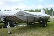 2012 Crestliner Storm 16 / Storm 16 Panfish, Custom Fit, Poly-Guard, Haze Gray