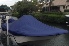 2014 Carolina Skiff 198 DLV - Custom Fit Boat Cover - Admiral Navy