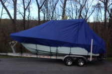 Specialty Cover designed for Walk Around Cuddy Cabins w/Hard Top or Center Console Boats with T-Top
