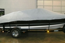 Monterey 180, Styled to Fit, V-Hull Runabout w/Walk Thru Transom, Poly-Guard, Haze Gray