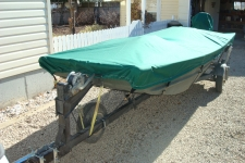 2012 Alumacraft 1442 NCS, Open Jon Style Boat, Styled to Fit, Poly-Guard, Teal