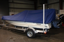 2013 Scout 177 Winyah, V-Hull Center Console Shallow Draft Fishing Boat w/Poling Platform, Styled to Fit, Poly-Guard, Navy