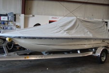 2013 Scout 177 Winyah, V-Hull Center Console Shallow Draft Fishing Boat w/Poling Platform, Styled to Fit, Poly-Guard, Haze Gray