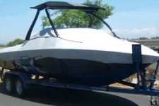 Tournament Ski Boat with Ski/Wakeboard Tower, Specialty, Poly-Guard, Haze Gray